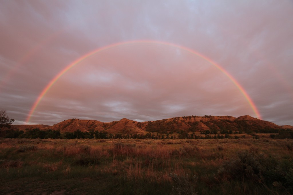 Double Rainbow @ Teddy Roosevelt National Park